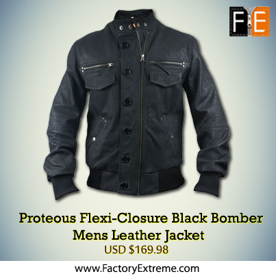 The Perfect Men's Black Leather Jacket
