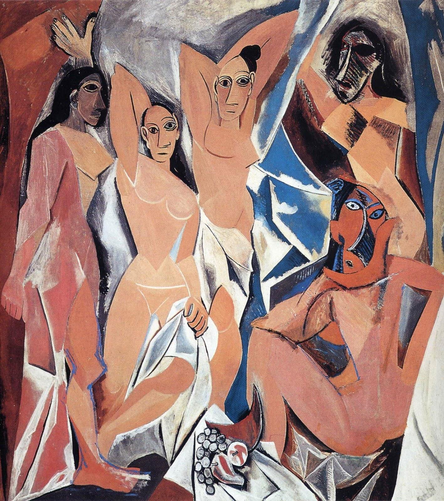 As Senhoras de Avignon - Picasso e suas pinturas ~ O maior expoente da Arte Moderna