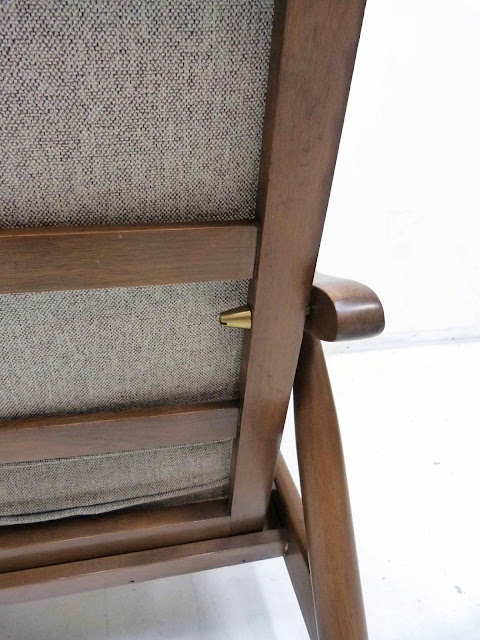 hans Wegner Style Lounge Chair GE-270 back rest brass