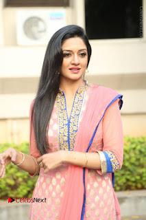 Actress Vimala Raman Stills in Beautiful Pink Salwar Kameez at (ONV) Om Namo Venkatesaya Press Meet  0083.JPG