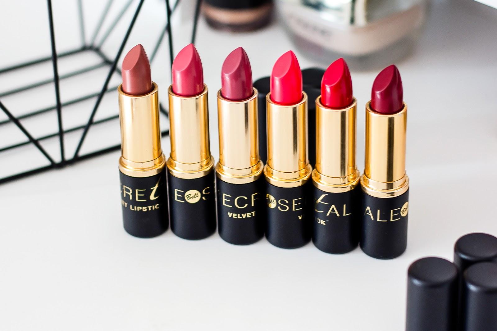 && Bell Cosmetics, kolekcja pomadek Secretale Velvet Lipstick &&