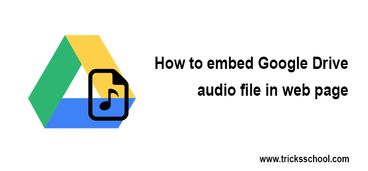Google Audio File Embed