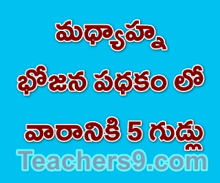 Rc No 51 - 5 eggs in a week in AP Mid Day Meal programme - proceedings