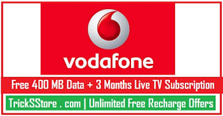 vodafone free internet offer on downloading vodafone play live tv app tricksstore