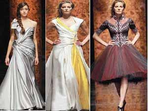 00043708b تمكنت مصممة الأزياء اللبنانية رندا سلمون من تطويع العباءة الشرقية ببراعة  لتصنع منها ثوب سهرة أنيق ، لتثبت تألقها في عالم الموضة والأزياء .
