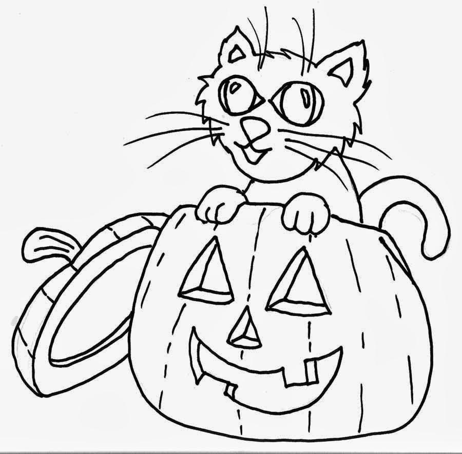 Asombroso Chico Halloween Para Colorear Colección de Imágenes ...