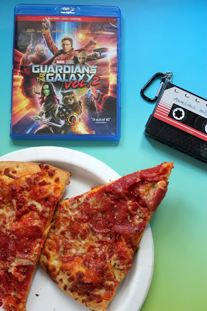 See what's coming to your home theater! The Guardians of the Galaxy Vol 2. movie is here on Blu-ray, DVD, and digital HD. Get our awesome pepperoni pizza recipe, too!