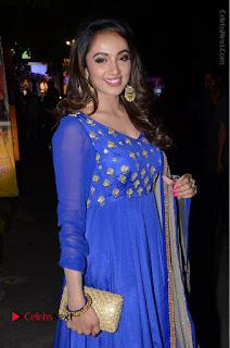Telugu Actress Tejaswi Madivada Pos in Blue Long Dress at Nanna Nenu Na Boyfriends Audio Launch  0053.JPG