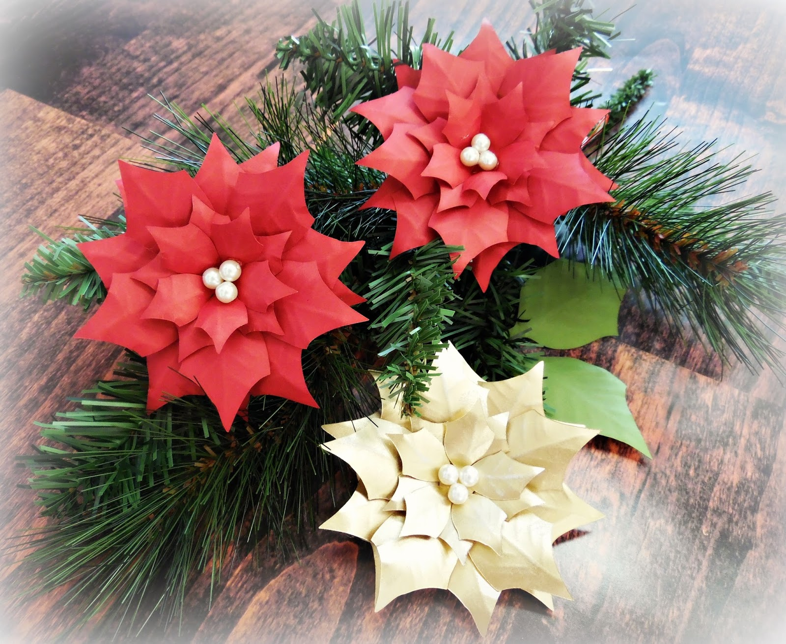 Paper Poinsettia Lighted Christmas Garland Abbi Kirsten Collections