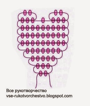 Лепесток. Схема плетения