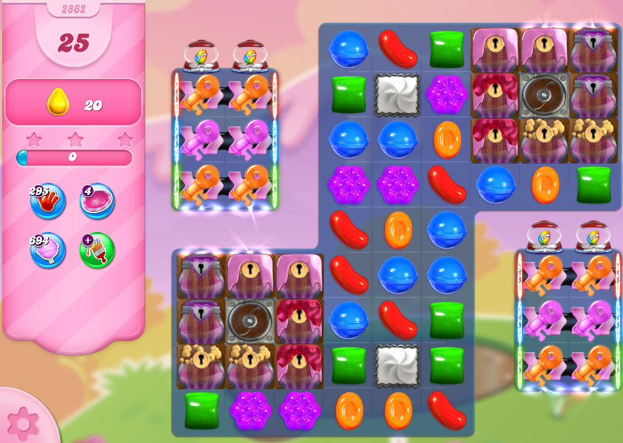 Candy Crush Saga level 2862