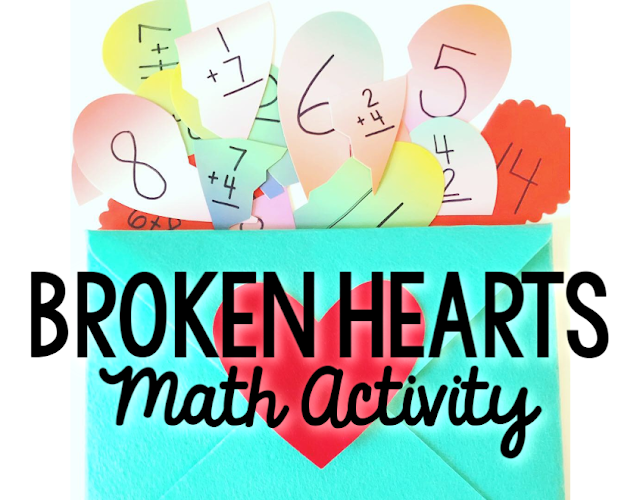 Broken Hearts Math Activity