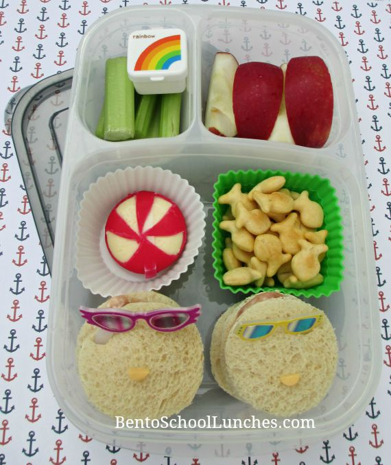 Beach themed bento lunch.