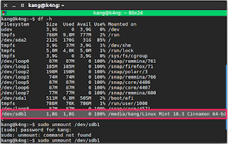 Cara mudah memformat flashdisk dengan terminal di ubuntu