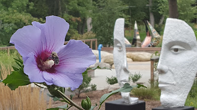 "the Franklin Sculpture Park, always a 'bee utiful"" place to visit"