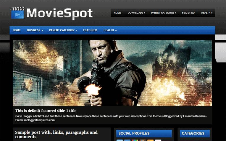 MovieSpot Free Blogger Template