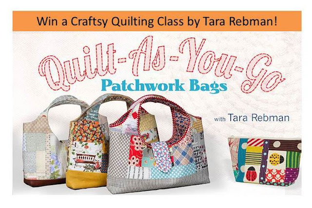 Win a Craftsy Quilting Class! Giveaway of Quilt-As-You-Go Patchwork Bag Class.