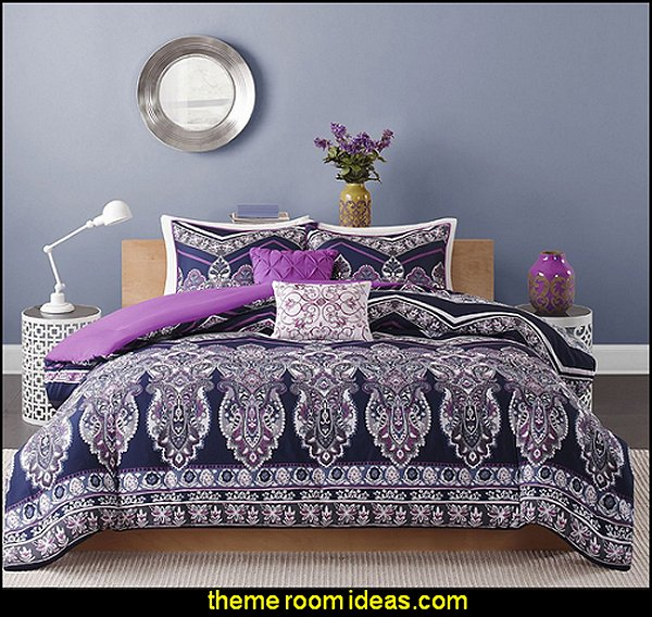 exotic theme decorating Adley Comforter Set - Purple