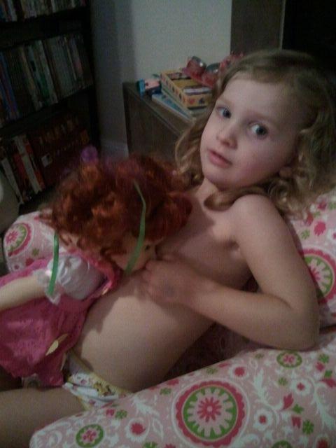 Littel girls breast