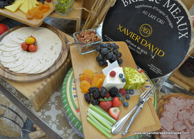 cheese board at Fairmont Ajman brunch