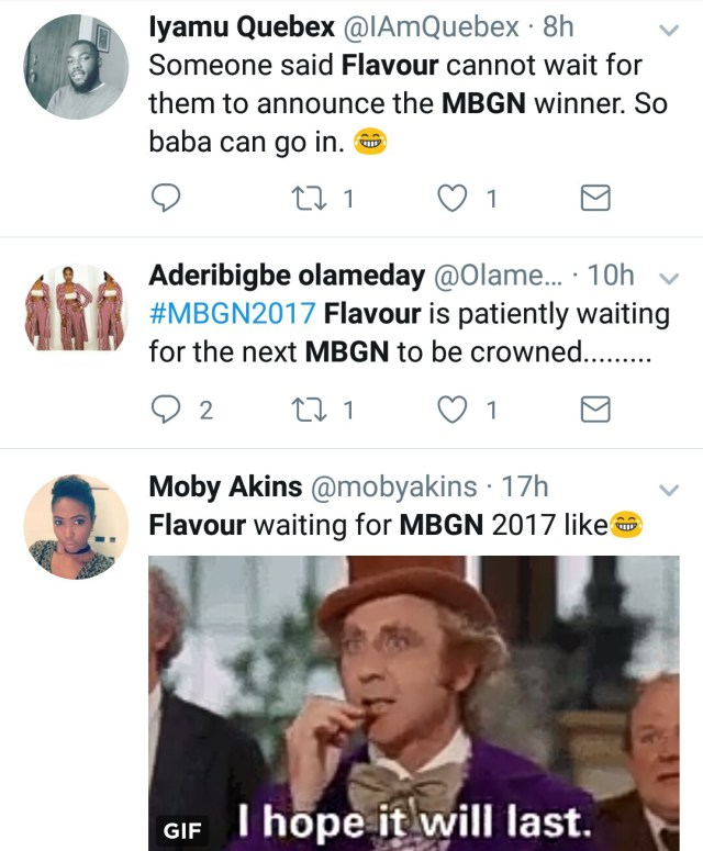 jgs #MBGN2017: Nigerians On Twitter Troll Flavour Over New MBGN Queen