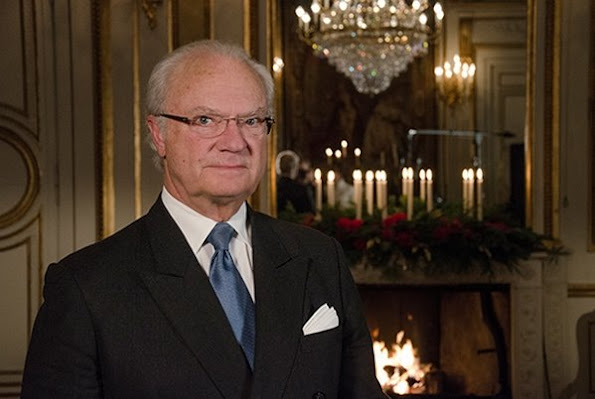 The King gave his traditional Christmas speech on Radio Sweden. This year's Christmas speech was recorded in Prince Bertil's Apartments at the Royal Palace