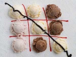 оригинально подать мороженое