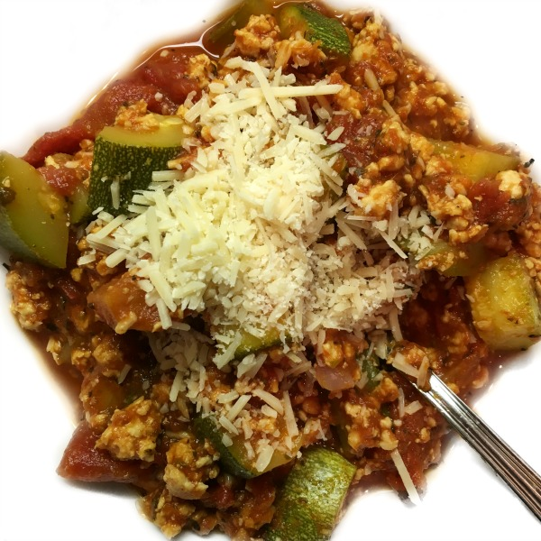 Turkey and Zucchini Marinara Goulash