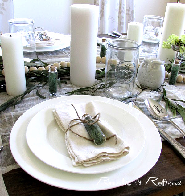 Summer tablescapes using white dishes