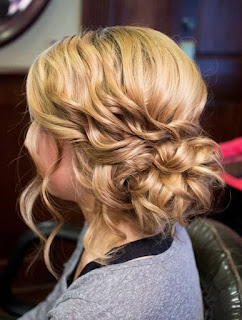 Side Updos Curly Long Hair
