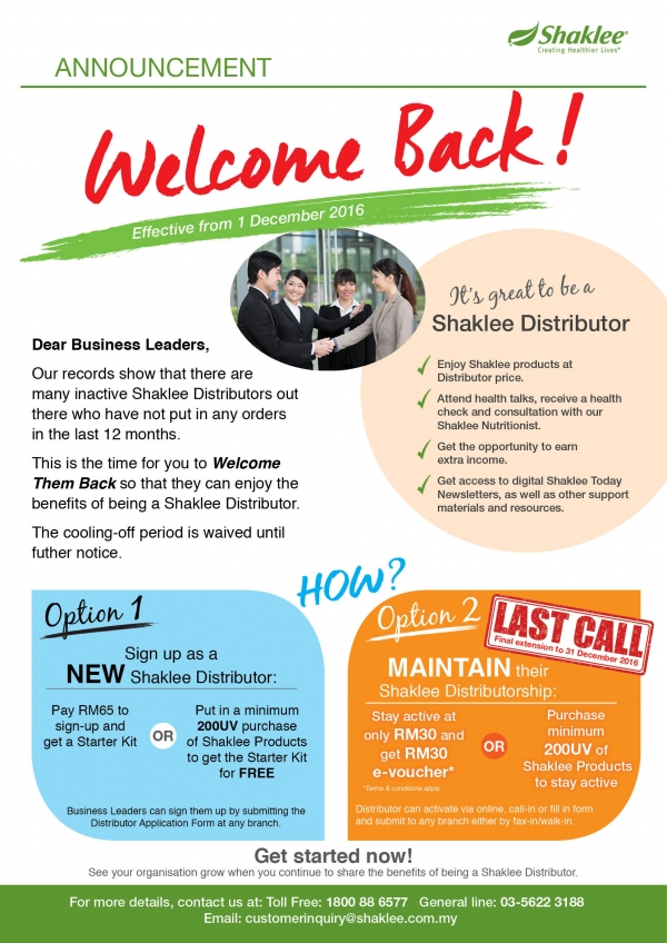 Welcome Back !!!