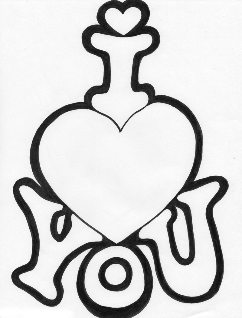 I Love You Valentines Coloring Pages Realistic Coloring