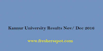 Kannur University BCom BBA 1st Sem Results 2016