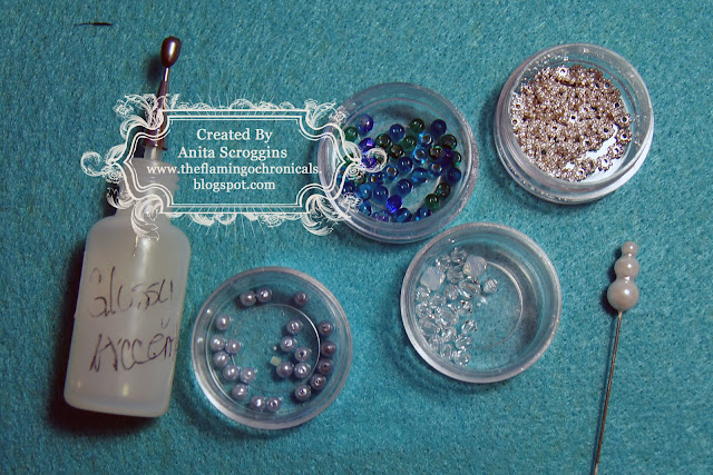 Glass beads and jewelry findings dress up your stick pins