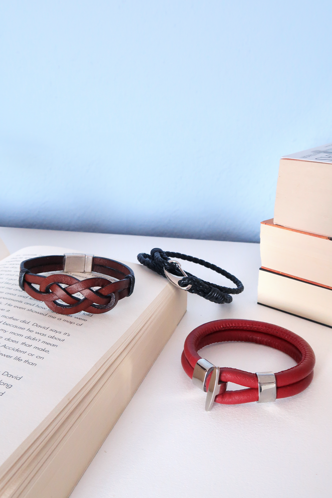 DIY 3 Styles of Leather Bracelets for Guys | Gift ideas for Men | Father's Day Gift | How to make a Wrap Bracelet | How to make an Infinity Knot Bracelet #diy # crafts #jewelry #gift