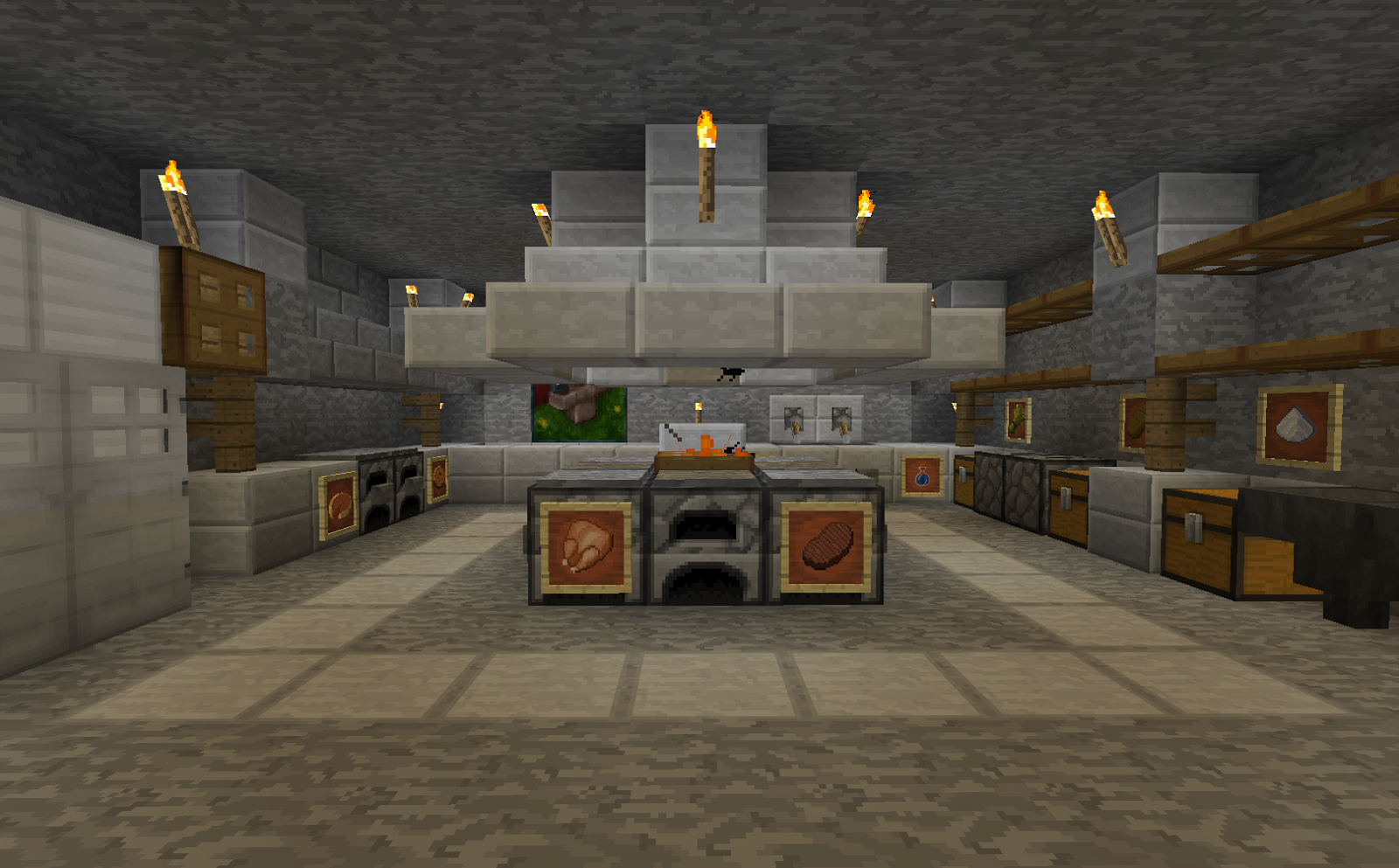 Kitchens With Open Shelving Ideas Minecraft Projects Minecraft Kitchen With Functional