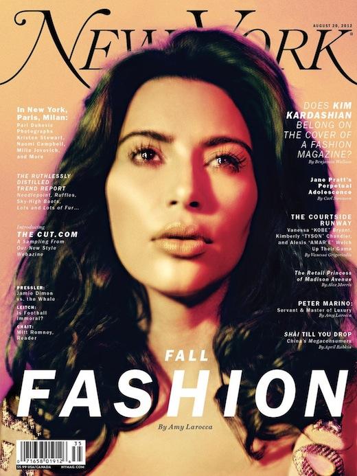 Kim Kardashian Covers New York Magazine Fall 2012