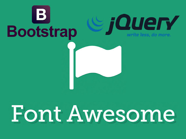 Complete index page including Bootstrap, FontAwesome and jQuery