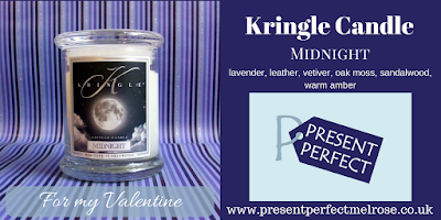 Kringle candle for men in Midnight fragrance