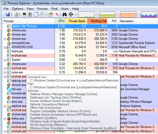 Svchost.exe Process with High CPU Usage