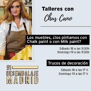 Talleres con Chuc Cano, desembalaje de Madrid