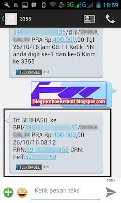 cara SMS banking Mandiri berhasil