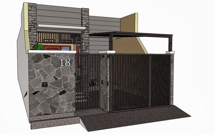 Pagar Rumah Minimalis Lebar 5 Meter - Rumah Joglo Limasan Work