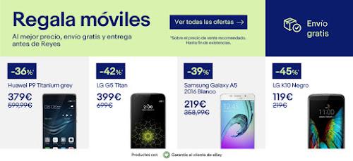 Mejores ofertas de la promo Regala móviles de eBay