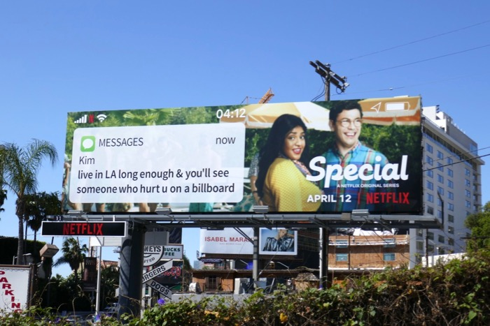 Special series text billboard