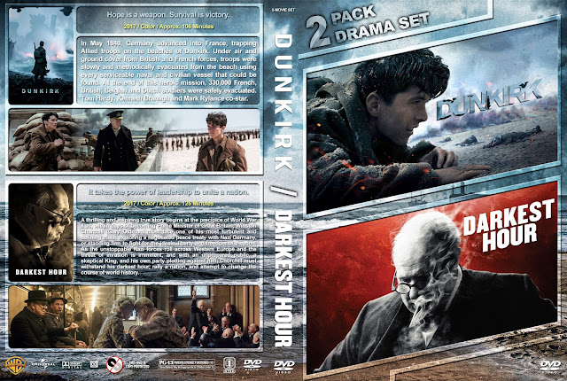 Dunkirk / Darkest Hour Double Feature DVD Cover