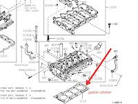 Harga, Fisik dan Perbedaan Paking Deksel (Gasket Cylinder) Daihatsu Xenia/Toyota Avanza 1.3 VVTI