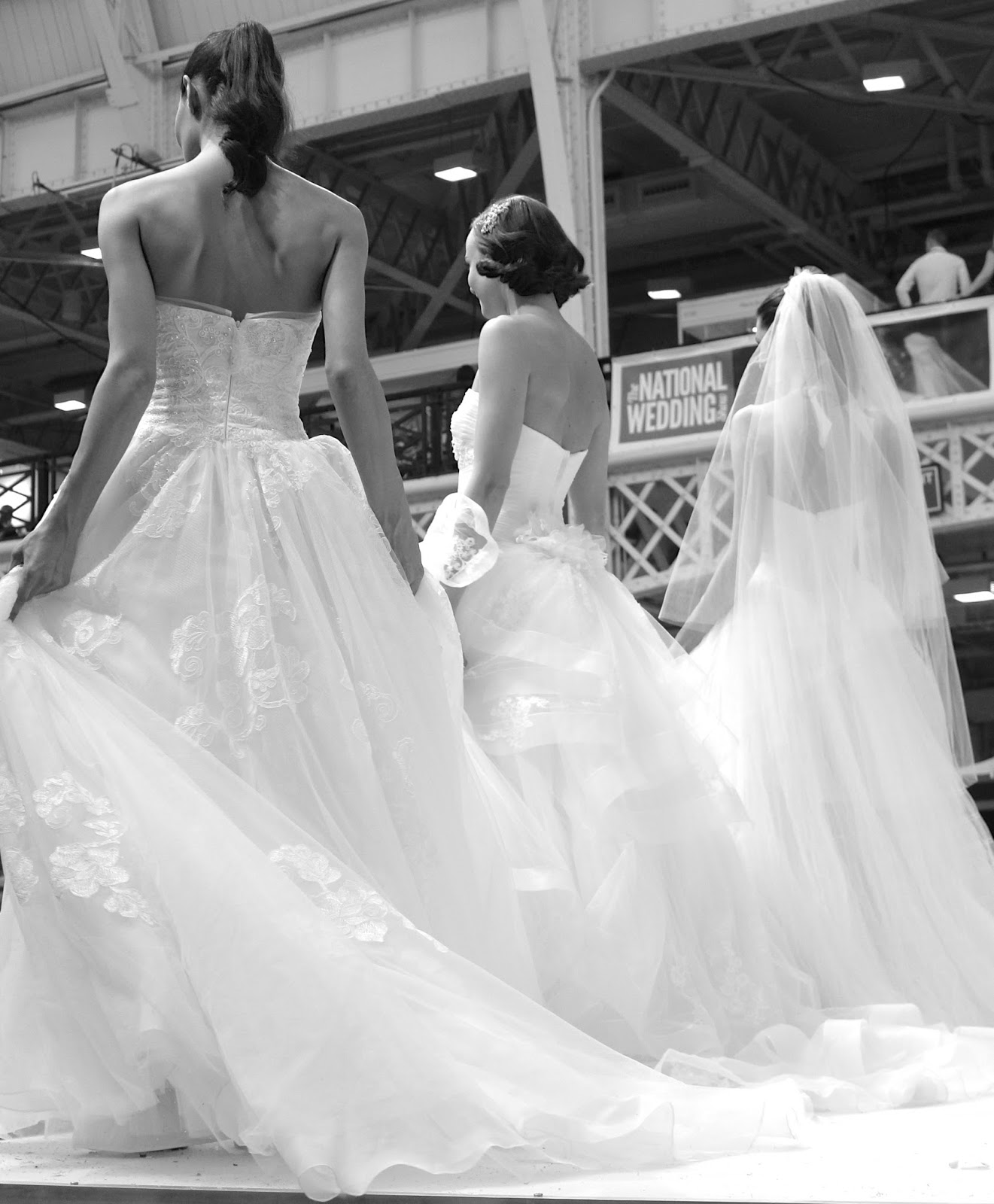 catwalk models at the national wedding show