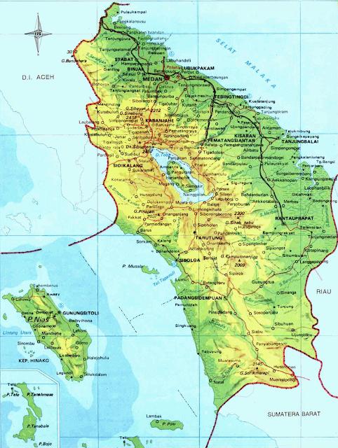 Peta Provinsi Sumatra Utara - Raimondwell.com