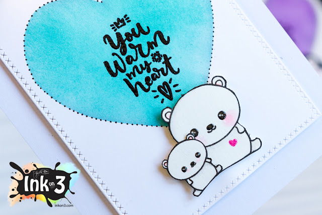 Snow Buddies, You Warm My Heart Valentine Cards - Ink On 3 Stamps
